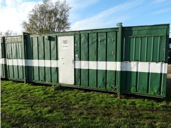 24' Site Office Cabin with Steel Door, Security Shutters and Adjustable Jack Legs (Being Sold From Pictures, Contact Office For Collection Address Details, Postcode LE15 8RN) - kontejner ndërtimi